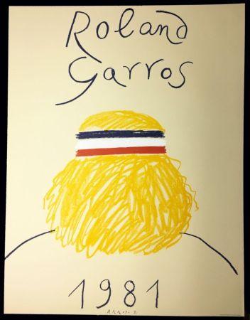 Lithographie Arroyo - Rolland Garros 1981. Bjorn Borg de dos.