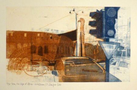 Eau-Forte Staufner - Rom, Via Kapo d'Africa – Kolosseum