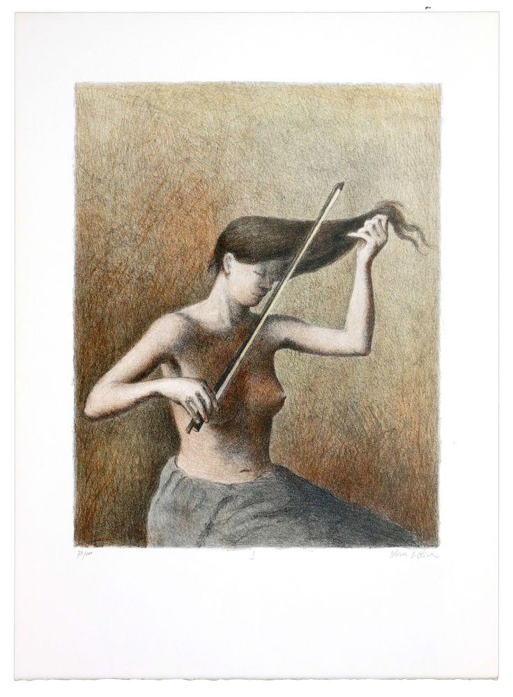 Lithographie Olivier O - Romances Muettes (Le menuet des poux)