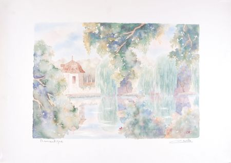Lithographie Cavalle - Romantique