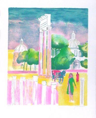 Lithographie Guiramand - Rome