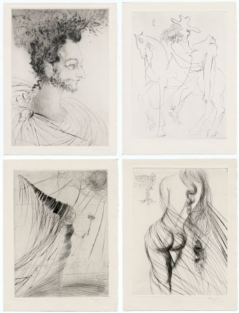 Livre Illustré Dali - Ronsard : LES AMOURS DE CASSANDRE. 18 pointes-sèches originales. 1968.