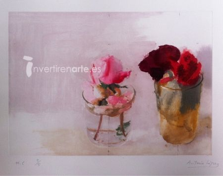 Gravure López Garcia - Rosas de invierno 1