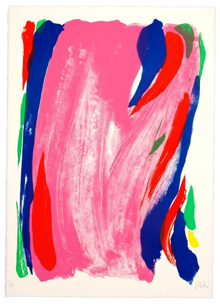 Lithographie Debré - Rose du Salon de Mai