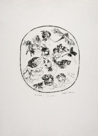 Eau-Forte Piacesi - Rose e libellula