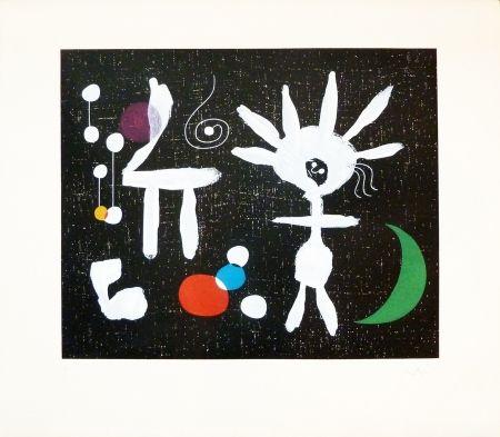 Gravure Miró - Rose Matinale au Claire de Lune
