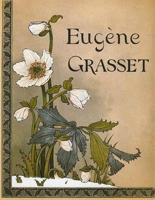 Lithographie Grasset - Roses de Noël / Christmas Roses