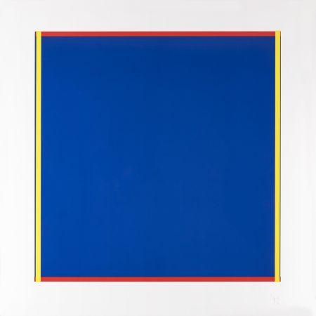 Sérigraphie Knoebel - Rot, Gelb, Weiss, Blau 02