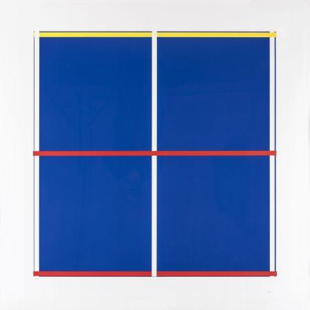 Sérigraphie Knoebel - Rot, Gelb, Weiss, Blau 03