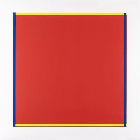 Sérigraphie Knoebel - Rot, Gelb, Weiss, Blau 04