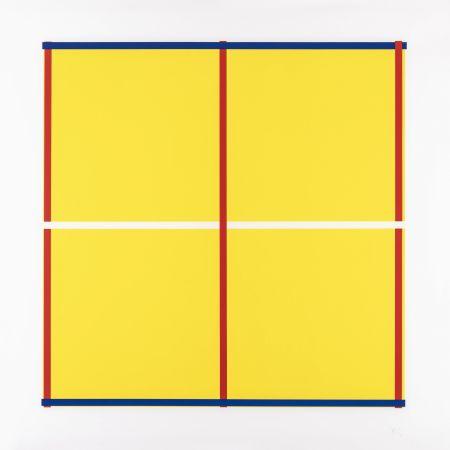 Sérigraphie Knoebel - Rot, Gelb, Weiss, Blau 05