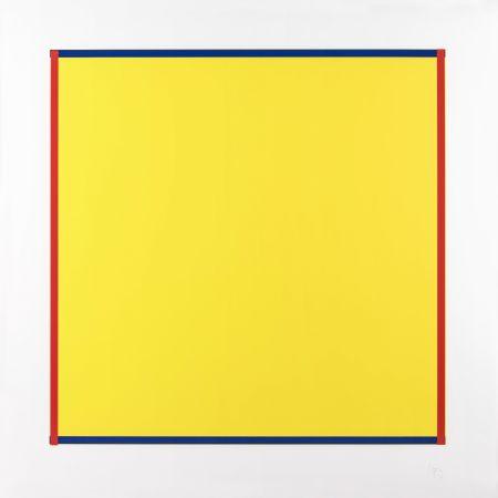 Sérigraphie Knoebel - Rot, Gelb, Weiss, Blau 06