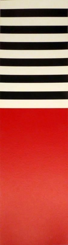 Sérigraphie Nemours - Rot – weiss – schwarz