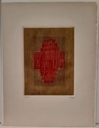 Gravure Piza - Rouge en croix