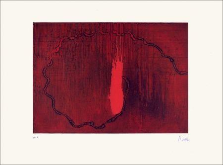 Eau-Forte Fiedler - Rouge feu