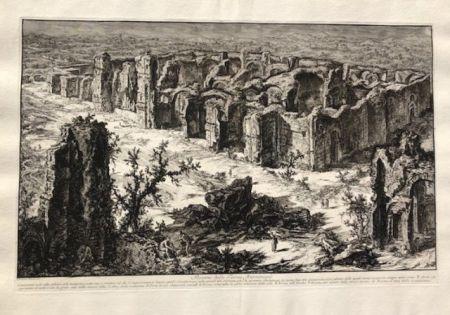 Eau-Forte Piranesi - Rovine delle terme antoniane