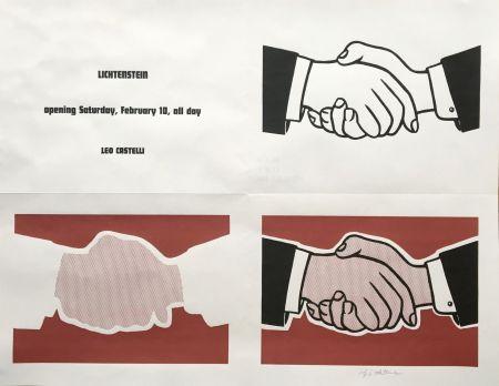 Lithographie Lichtenstein - Roy Lichtenstein 'Handshake (Castelli Mailer)' (Hand Signed) 1962