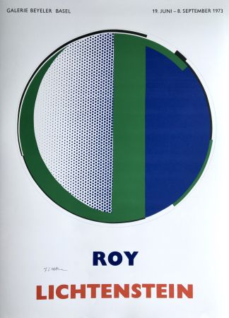 Sérigraphie Lichtenstein - Roy Lichtenstein 'Mirror' 1973 Hand Signed Original Pop Art Poster
