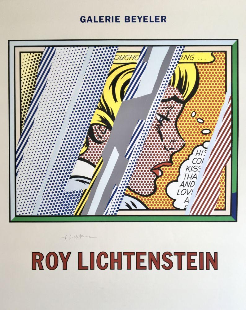 Lithographie Lichtenstein - Roy Lichtenstein 'Reflections on Girl' 1990 Hand Signed Original Pop Art Poster