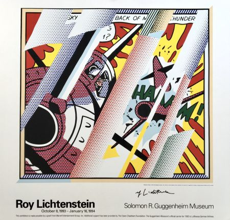 Lithographie Lichtenstein - Roy Lichtenstein 'Reflections: Whaam!' 1993 Hand Signed Original Pop Art Poster