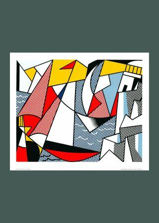 Sérigraphie Lichtenstein - Roy Lichtenstein 'Sailboats' 1973 Original Pop Art Poster
