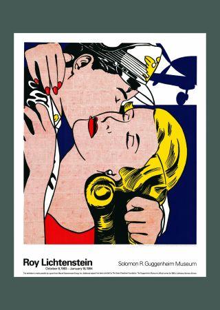 Lithographie Lichtenstein - Roy Lichtenstein 'The Kiss' 1993 Original Poster