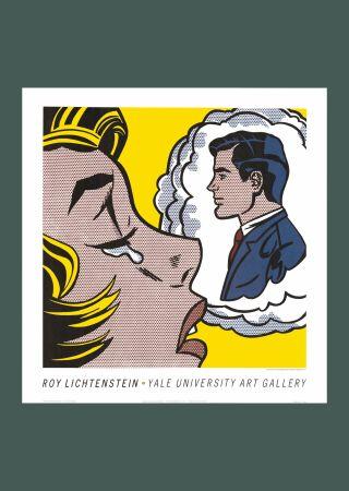 Aucune Technique Lichtenstein - Roy Lichtenstein 'Thinking of Him' 1991 Original Pop Art Poster Print