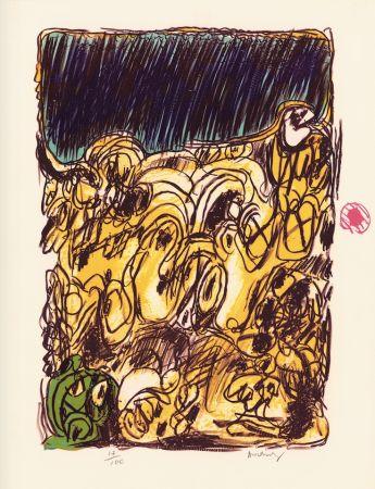 Lithographie Alechinsky - Ruée