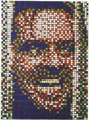 Sérigraphie Space Invader - Rubik Kubrick II