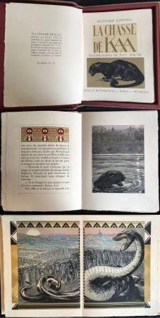 Livre Illustré Jouve - Rudyard Kipling : LA CHASSE DE KAA. Illustrations de Paul Jouve (1930)