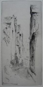 Gravure Leheutre - Rue du Petit Gars, à Tours