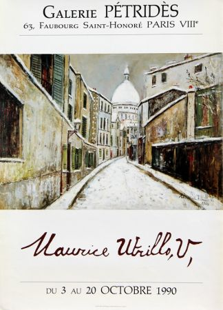 Affiche Utrillo - Rue Saint Rustique