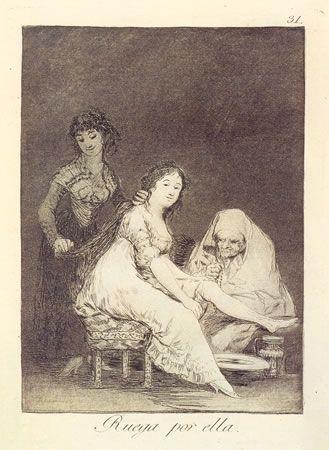 Eau-Forte Goya - Ruega por ella