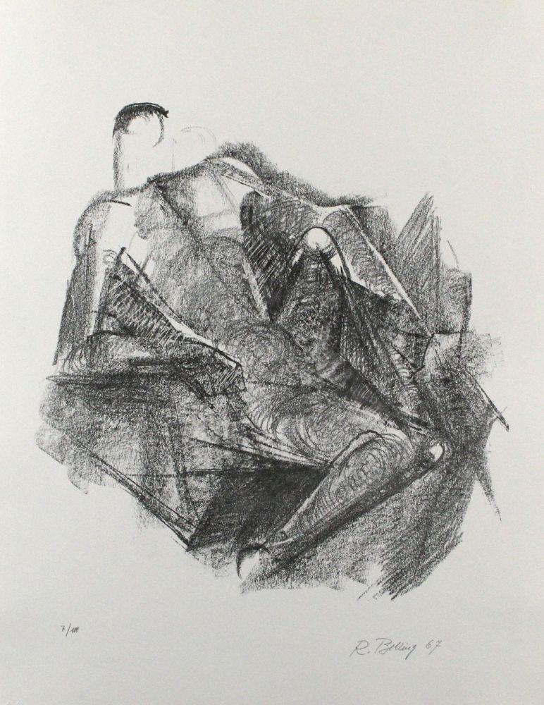 Lithographie Belling - Ruhender