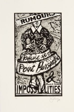 Linogravure Kentridge - Rumours