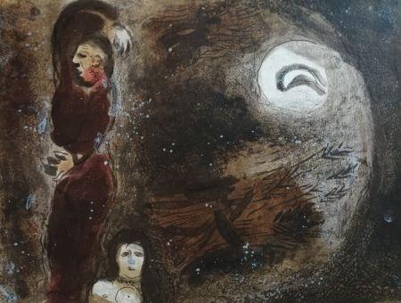 Lithographie Chagall - Ruth aux pieds de Booz
