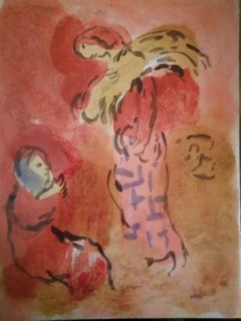 Lithographie Chagall - Ruth glaneuse