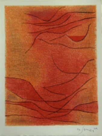 Lithographie Singier - Rythme