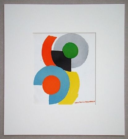 Lithographie Delaunay - Rythmes circulaires, 1949
