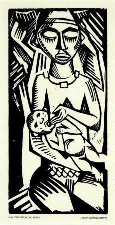 Gravure Sur Bois Pechstein - Säugling (Infant)