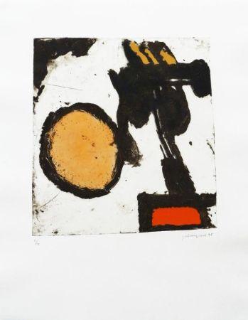 Gravure Guinovart - Sèpia i taronja