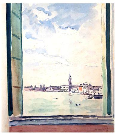 Lithographie Marquet - Séjour à Venise