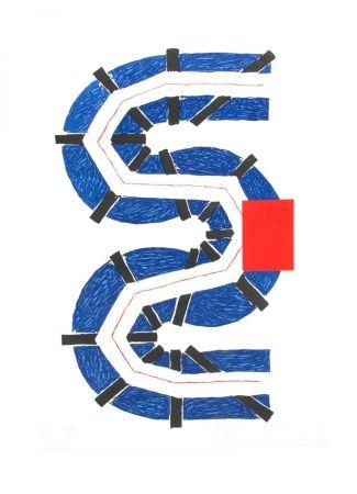 Eau-Forte Et Aquatinte Sugai - S bleu
