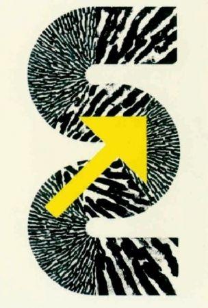 Lithographie Sugai - S (Flèche jaune)