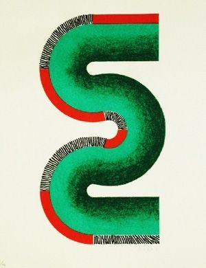 Lithographie Sugai - S vert
