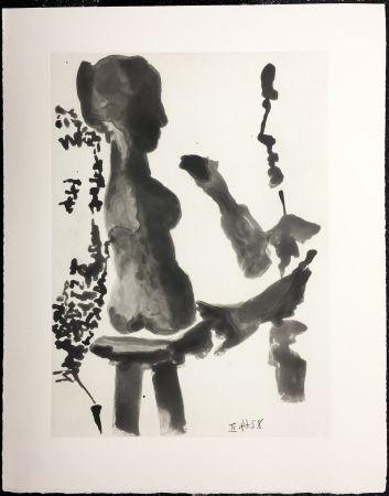 Eau-Forte Et Aquatinte Picasso - SABLE MOUVANT Plate n°9. 1964