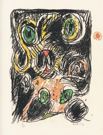 Lithographie Alechinsky - Sac des lignes