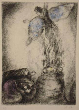 Eau-Forte Chagall - Sacrifice de Manoach