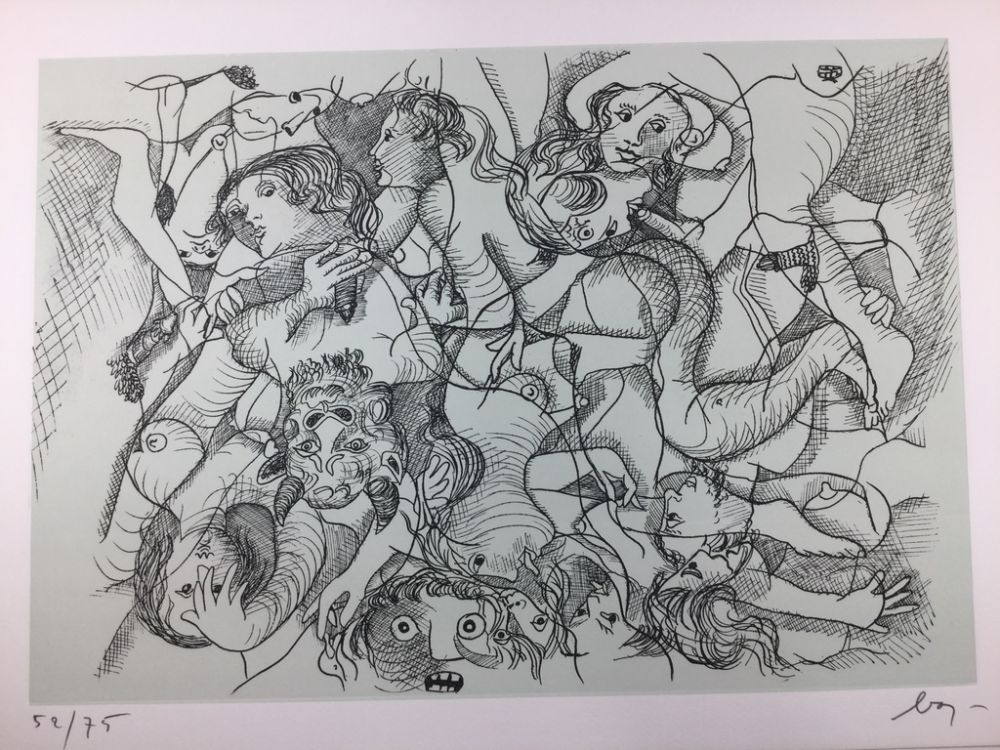 Eau-Forte Baj - Sade in Italy - complete folder ( 8 erotic etchings )