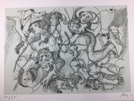 Eau-Forte Baj - Sade in Italy - complete folder ( 8 erotic etchings )